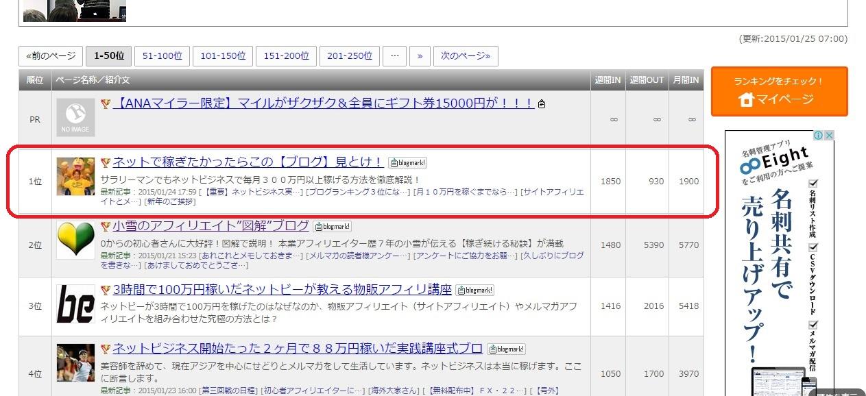 人気ブログランキング1位獲得!